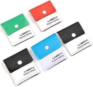 LABOTA 5 paquete ceniceros de bolsillo portátil bolsa de ceniza compacta incombustible de PVC inodoro colores surtidos