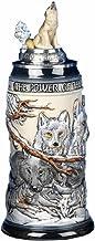 King German Beer Stein the power of the Wolf Pack relief Stein 0,5 liter tankard, ölmugg KI 955-RUW 0,5 L