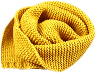 Dolores Kids Soft Knitted Scarf Fashion Solid Color Infant Toddler Warm Scarves Muffler Winter Wrap Shawl