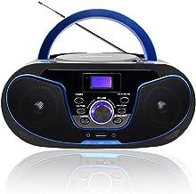 LONPOO Radio CD / MP3 Portátil Reproductor de CD con