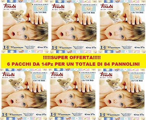 PANNOLINI TRUDI BABY CARE EXTRALARGE 15/30 Kg CONFEZIONE 6 PZ