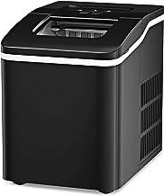 GOPLUS Machine à Glaçons 12KG en 24H avec Réservoir d'Eau 1,5L, 9 Glaçons en 8 Min, Auto-Nettoyage, Affichage-LCD, Panier ...