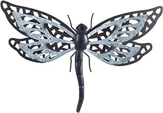 CAPRILO. Aplique Pared Decorativo de Metal Libélula. Cuadros y Adornos. Decoración Hogar. Insectos. Regalos Originales. 24...