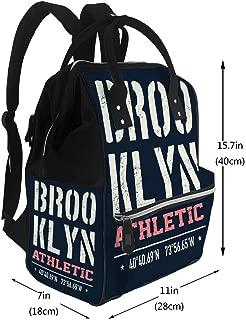 Water-Resistant Baby Bags Vintage Brooklyn Diaper Bags Backpack