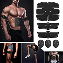 TopCrazy Muscle Toning Exercise Belt, Abdominal Toning Belt EMS ABS Toner Body Muscle Trainer Wireless Portable Unisex Fitness Training Gear for Abdomen/Arm/Leg Training Home Office Exercise Workout Equipment