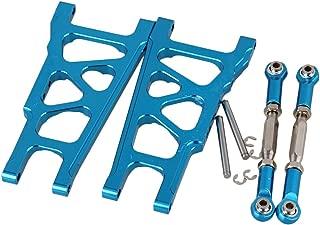 Mxfans RC Blue Aluminum Alloy SLA007 SLA013 Front/Rear Suspension Arms and Servo Link Upgrade Parts for TRAXXAS Slash 4X4 & HQ 727 Short Truck Set of 2