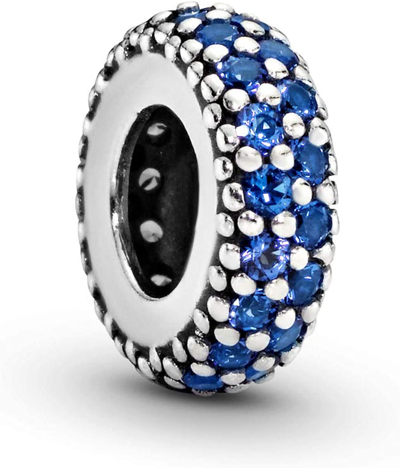 Pandora Limited Special Price Jewelry Blue Bombing new work Sparkle Spacer in S Crystals Charm Sterling