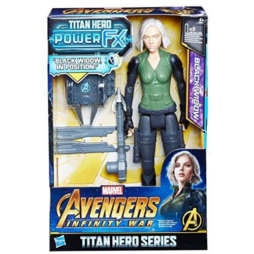 Hasbro Avengers E0614EW0 - Marvel Titan Hero Black Widow figurka akcji, z Power FX Pack