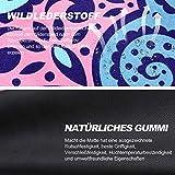 KUYOU Yogamatte- Faltbare 2 MM dünne Gymnastikmatte rutschfest Design Hilfslinien licht umweltfreundlich langlebig hochwertiges Wildleder für Reisen Yoga und Pilates mit Tragetasche Tragegurt - 2