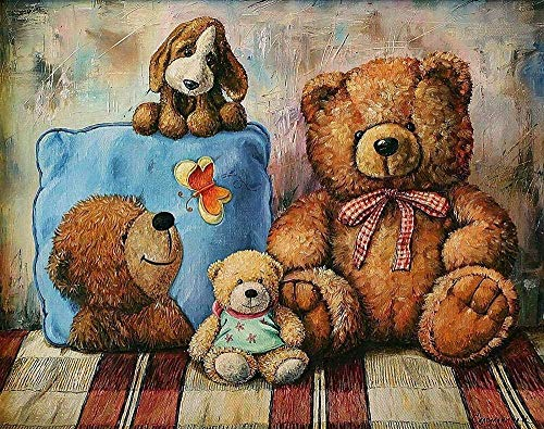 Baby Spielzeug Rompecabezas de 1000 piezas para adultos Rompecabezas de madera clásico 3D Puzzle Teddy Bear DIY coleccionables Decoración moderna del hogar