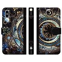 ブレインズ ベルトなし iPhoneXS iPhoneX 手帳型 ケース カバー 宇宙の光魔法書 よう wonder collection 宇宙 きれい 魔法 月