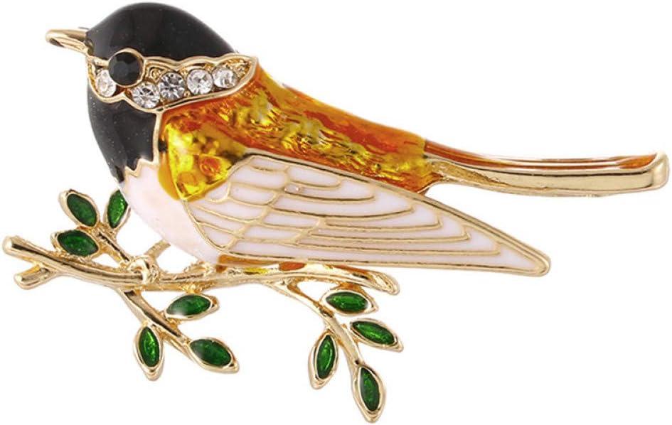 RelaxLife Spille Lega Cappelli Uccelli Uomo Animale Alto Cristallo Spille Guanti Sciarpe Maglione Passero Oriole Abito da Donna