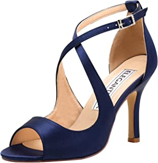 Amazon.com: navy blue wedding shoes