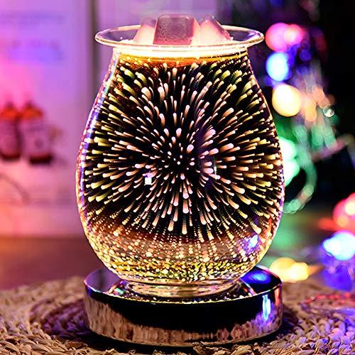 Wowlela Duftlampe Wachs 3D Scentsy Duftlampe Energie Sparen Duftlampe Elektrisch Duftlampe Teelicht Elektrisch Duftöl Lampe für Home Office Schlafzimmer Geschenke