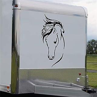 """remorque pour chevaux Cheval Chaussure 2 X 22/"""" Van Voiture Autocollants Vinyle Graphique Autocollant"""