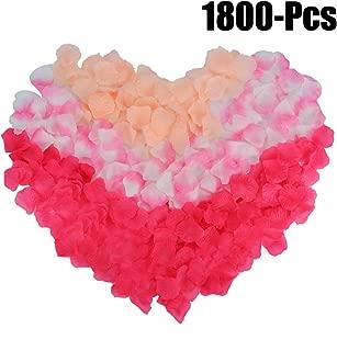 Rose Petals, Coxeer 1800Pcs Flower Petals Artificial Petals Flower Petals Decoration Petals for Valentine Decorations Wedding or Home Hotel Garden Bouquet Party Decorations