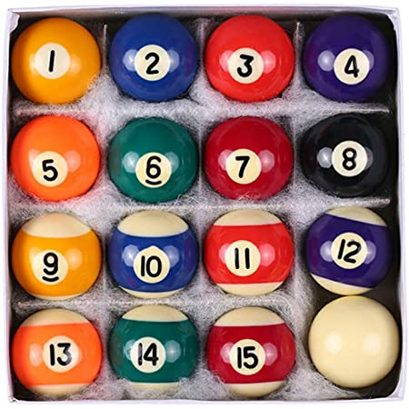"""Set of 16 Miniature Small Mini Pool Balls Billiard 1 1//4/"""" Ho Jx"""