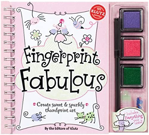 Fingerprint Fabulous  Create Sweet and Sparkly Thumbprint Art by Klutz