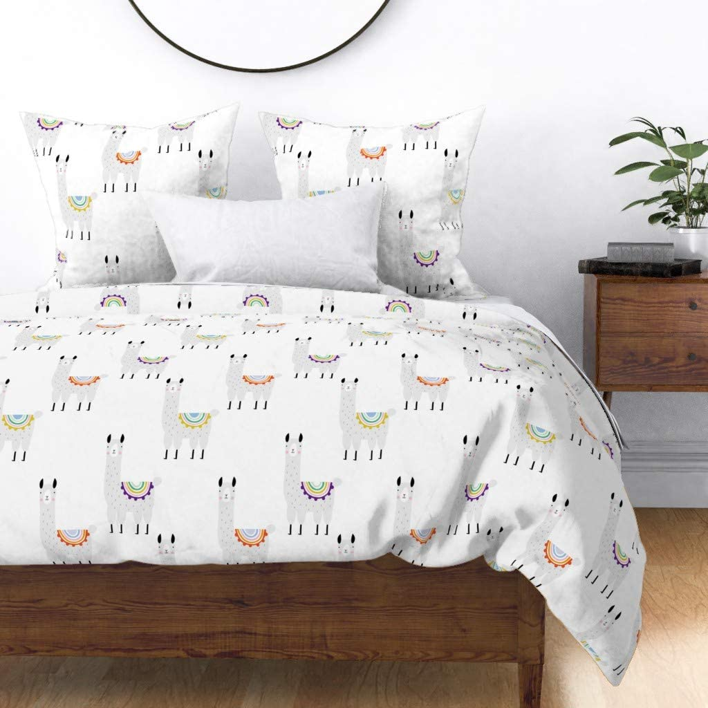 Same day shipping Roostery Duvet Cover Kids Jacksonville Mall Baby Alpaca Mexico Llama Animals Cute