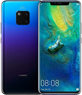 "Huawei Mate 20 Pro (128GB, 6GB RAM) 6.39"" Display, Leica Triple Camera, in-Screen Fingerprint, Global 4G LTE Dual SIM GSM Factory Unlocked LYA-L29 - International Model (Twilight)"