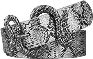 أحزمة للنساء، حزام جلدي أنيق للفستان مع إبزيم حزام الثعبان