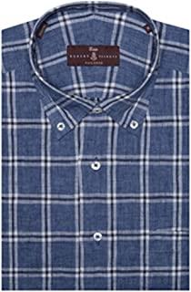 Navy and White Check Estate Sutter Tailored Dress Shirt