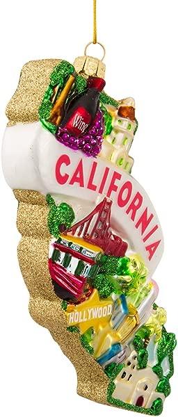 Kurt Adler Glass California Ornament 5 Inch