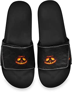 All agree Lantern for Halloween Men's Summer Sandals Slide House Adjustable Slippers Wide Boys