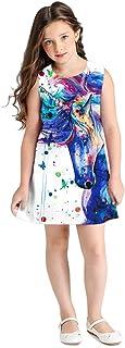 Summer Unicorn Dress for 6 7 8 9 10 11 12 Years Old Girls Sleeveless Dress