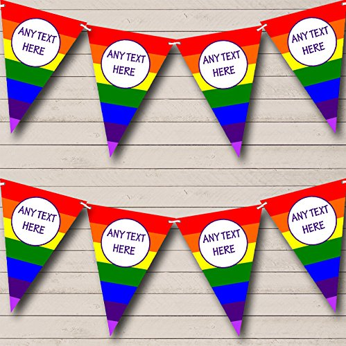 Rainbow Stripes Bright Gay Pride Carnival, Fete Bunting Party Banner Decoration Garland