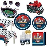 Party City スーパーボウル インフラジウム デラックス テーブルウェア 36人用 スナックスタジアム、お皿など付き