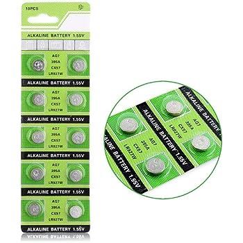 Cotchear AG7 Coin Battery 395A LR927 SR927SW LR57 SR927 Button Cell Batteries [10Pcs/Pack]
