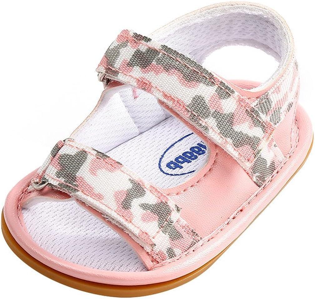 New Arrived Baby Boy Girl Pram Shoes Infant Camouflage Soft Sole Summer Sandals