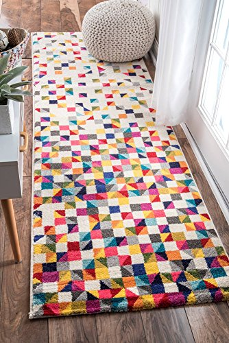 nuLOOM Takisha Triangle Geometric Area Rug, 10′ x 14′, Multi