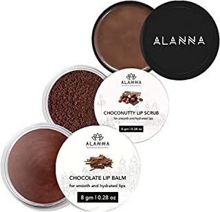 ALANNA Delicious Chocolate Lips Combo of Chocolate Scrub, Balm, ButterMask®, 31g (8+8+15)
