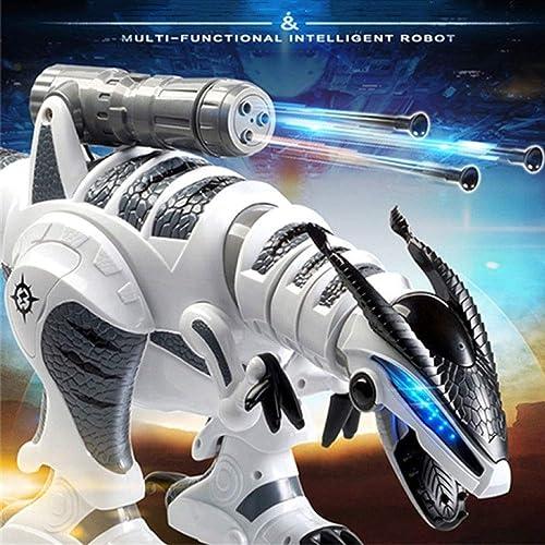 SJHFDICKJFIF Intelligente Dinosaurier Robot Spielzeug,Multi-Funktions Interaktiver,Programmierung,Tanzen Musik,reagiert Auf Berührungen,mit Sound Und Gehfunktion,Weiß