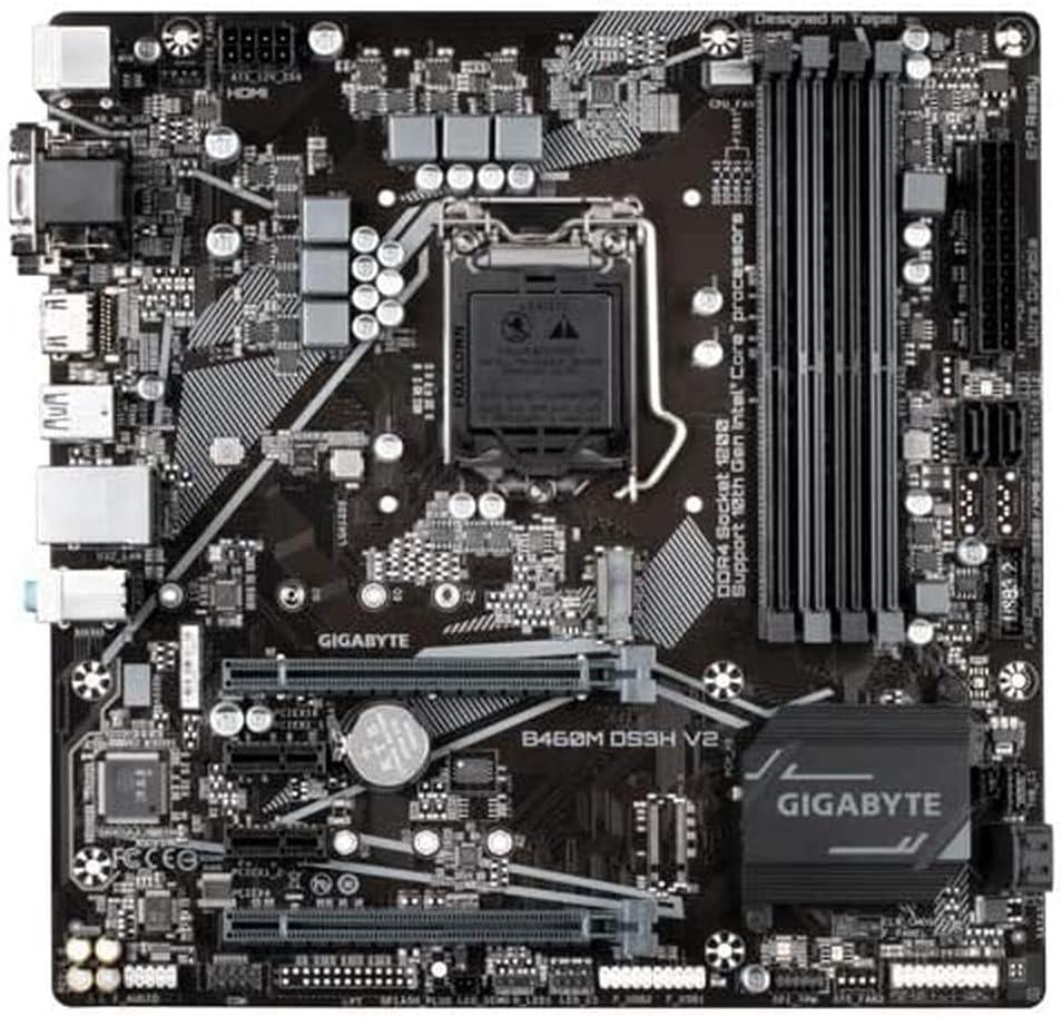 Gigabyte Technology B460M DS3H V2 Placa Base Intel B460 LGA 1200 Micro ATX