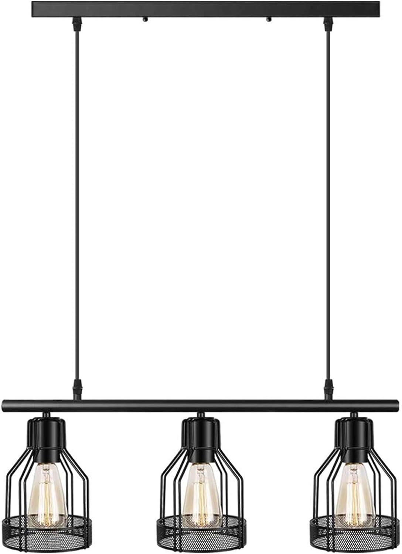 Black Pendant Lighting 9 Light Kitchen Island Light Fixtures Rustic Cage  Industrial Chandelier for Bar Dinning Room