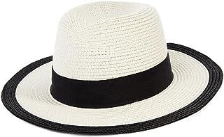 ZOO 日曜日の帽子女性の夏の日曜日の帽子大きい沿岸浜の麦わら帽子。 (色 : 白)