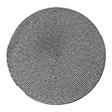 manteles Individuales 2PCS Round Weave Placemat Fashion PP Dining...
