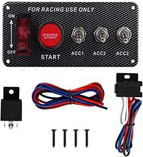 Pactrade Marine Racing Car Ignition Switch Panel Engine Start Button 2 Toggle