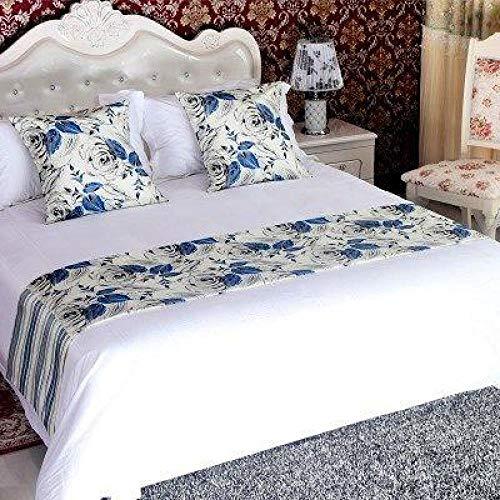 YYSWIM Chemin de lit Écharpe Literie Hôtel Eurostar, Serviette de lit de Haute qualité, Drapeau de lit, Couvercle de lit, décoration, Blue Demon Girl, Lit de 50 x 180CM / 1.2 M