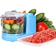 MYONAZ Mini Chopper 2 Cup... MYONAZ Mini Chopper 2 Cup One-Touch Mini Food Chopper for Blending Vegetable Fruit and Meat (Blue)
