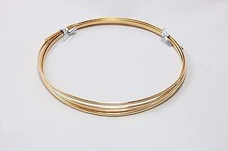 12 Gauge, Bronze Wire, Half Round, Dead Soft, CDA #521-5FT from Craft Wire