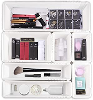 $24 » Expandable Drawer Organizer for Desk, Adjustable Organizer Tray Divider Set for Desk Drawers, Multi-Drawers for Makeups, Tools, Utensils (7 Pieces Set)