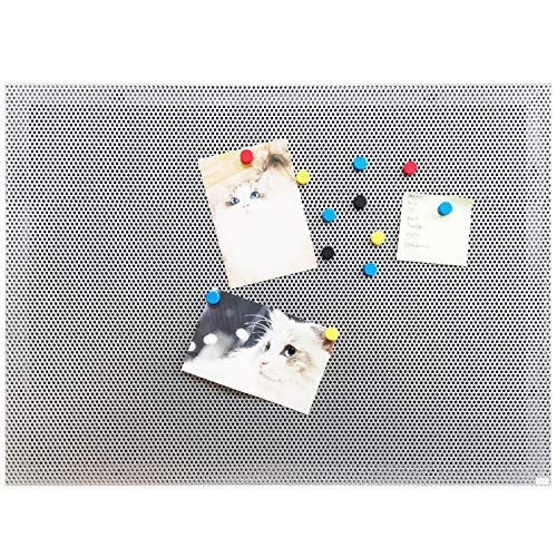 JILoffice Bulletin Board, Magnetic Board 24 x 18 Inch, Great Wall Mounting Board with 40 Magnets, Decorative Board for Photos and Messages