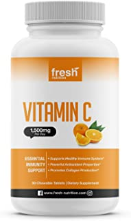 Vitamin C - Powerful 1500mg Per Day Immune Support - Tasty Chewable Vitamin C Supplement All Year-Round Potent Support - V...