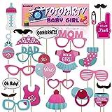 Lumaland Fotoparty Set Baby Girl lustige Foto Props Photo Booth und Requisiten Sets mit Fotoaccessoires für Verschiedene Anlässe