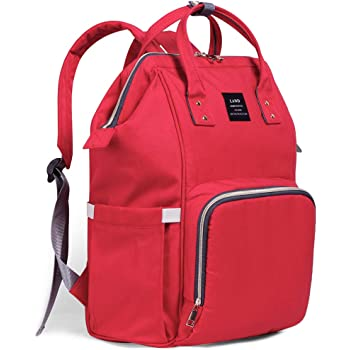 Ticent Diaper Bag Multi-Function Waterproof Travel Backpack Nappy Bags for Baby Care - Large Capacity, Stylish and Durable, Red