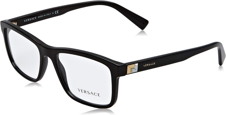 Versace Men's VE3253 High quality new Eyeglasses 55mm Black Max 43% OFF 17 55 145